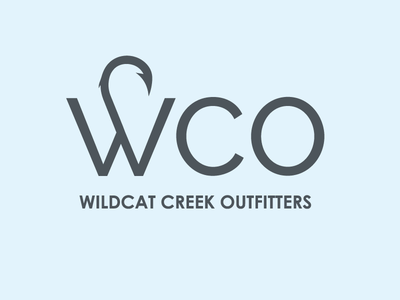 Wildcat Creek Outfitters nature fishing branding logo