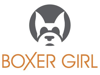 Boxer Girl Branding illustration boxer dogs real estate logo branding