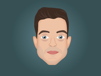 Rami Malek AKA Mr. Robot bitmoji emoji hollywood fsociety mr robot rami malek illustration