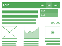 Web ui wireframe full