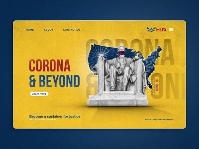 Corona Web Banner greekgod america yellow graphic illustration app typography design art direction banner webdesign web ux ui