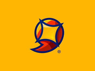 Wamda Agency Logo orange yellow lava flat illustration web minimal icon logo illustrator graphic branding art direction