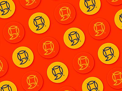 Wamda pins yellow orange lava pins flat graphic logo vector illustrator branding design art direction
