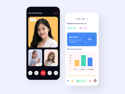 E - Learning App Concept ios clean minimal trend learning platform online education education courses product design iphonex app mobile uxui ux userexperiencedesign userinterface ui uidesign design