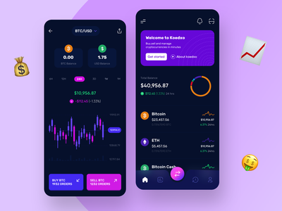 Crypto Investment Wallet userexperience cryptocurrency banking bitcoin wallet crypto wallet trading trade investment crypto minimal clean app product design uxui mobile userinterface ui uidesign design