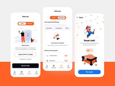 Gamification✨ app design mobile ios gamificaion game reward shopping ecommerce orange illustration branding logo product design ui uxui userexperiencedesign userinterface uidesign design