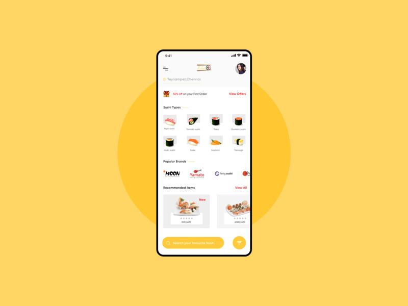 Sushi App concept uxui sushirestaurant sushi sushiapp ecommerce design illustration graphic iphonex mobile app ux userexperiencedesign userinterface ui design uidesign