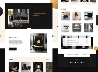 A Complete Bathroom and Lighting Solutions - Pera in Dark theme
