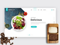 Delicious - restaurant landing page hero