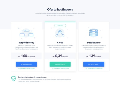 Hosting company - pricing plans icons servers server ui pricing plans cloud hosting