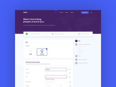 Registration process steps registration form registration photoshop interaction webdesign drag drop ux ui form design