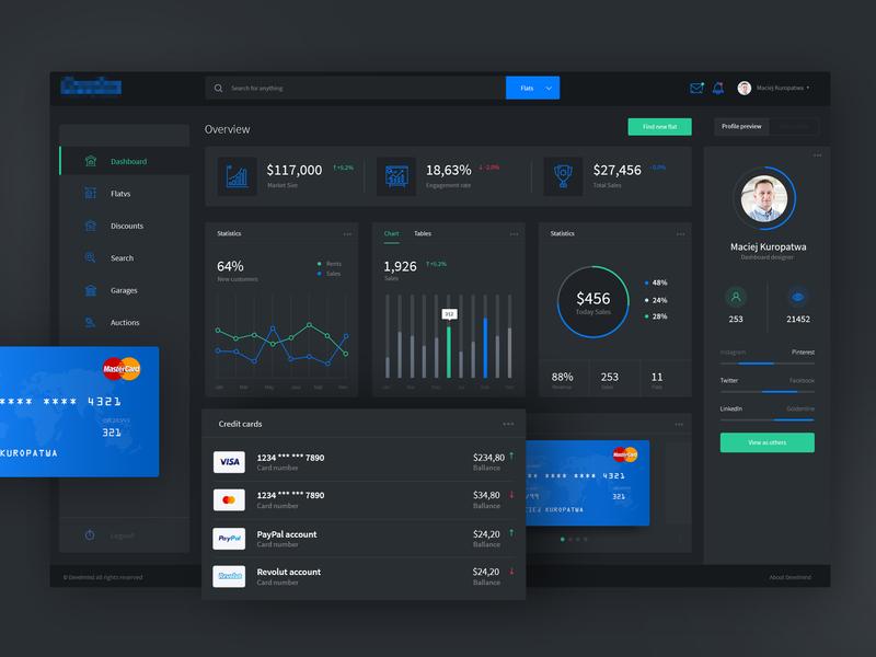 Dark Dashboard payments carts manager task charts chart profiles list photoshop webdesign design ux panel ui dashboard