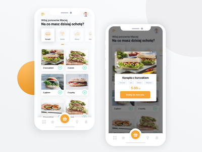 Mr Kanapka - food delivery mobile app figma design food restaurant food delivery app mobile app design burger app sandwich food app food app ui food design food delivery application