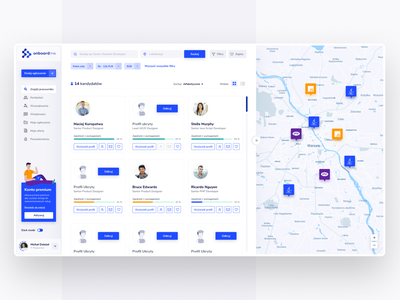 Onboardme - Job recruitment dashboard recruitment job blue panel dashboard blue app webdesign ui design figma ux design ui