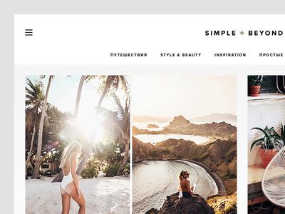 Simple + Beyond minimal simple flat blog web