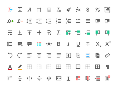Some toolbox icons