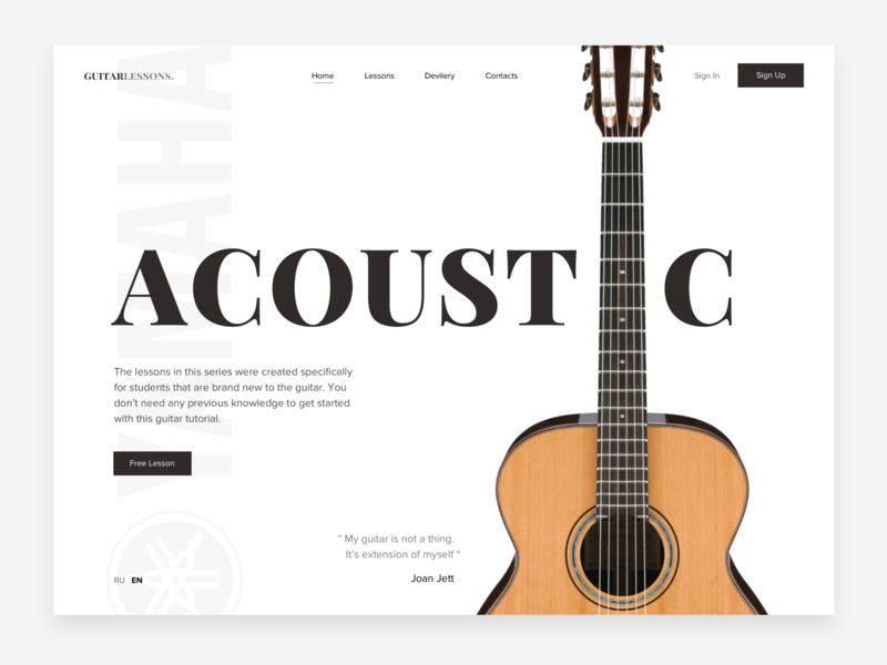 🎸Guitar UI Card yamaha creative ui challange ui cards sound design concept web ui card ui guitar music
