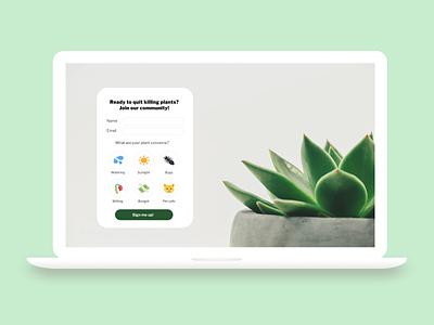 Plant Parents - Daily UI #001 icon design webdesign vector web ux design ux minimal flat