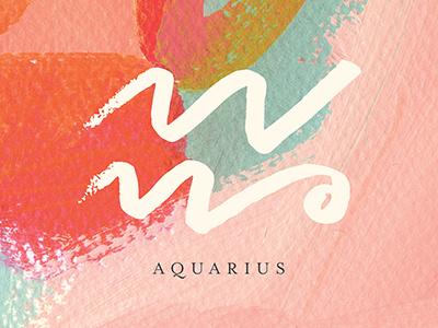 Aquarius art paint painting design graphic design horoscope zodiac aquarius abstract