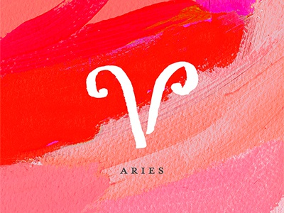 Aries art paint painting design graphic design horoscope zodiac aries abstract