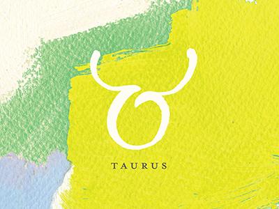 Taurus abstract taurus zodiac horoscope graphic design design painting paint art