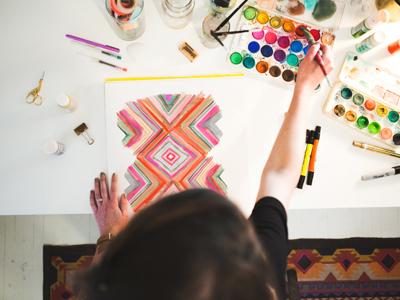 Full Time Freelance!!! website painting paint art pattern print graphic design design freelance