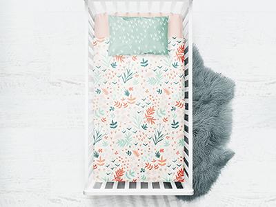 Nursery Prints textile nursery hand drawn botanical floral print and pattern print design surface art pattern