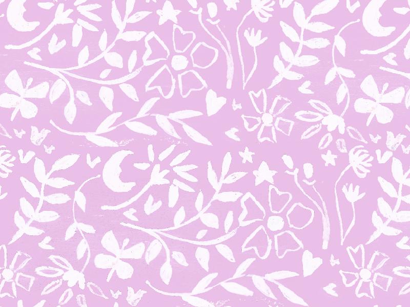 Magical Garden Floral garden floral pattern textile design white floral art surface art print pattern painting floral