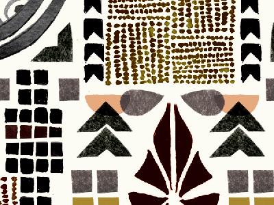 art deco inspired artwork illustration art deco design collage pattern paint geometric painted