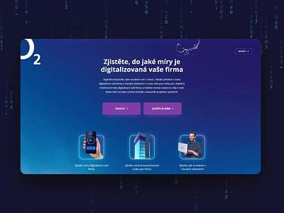 Digitalization of companies secure security server o2 questionnaire surveys survey company digitalization servers design website animation microsite digital