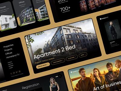 Homeland Website incube web design architect architecture graphic design graphics website design web design webdesign properties realestate real estate website