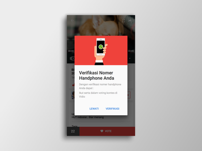 Vidio Dialogs  pop over modal win alert interface design application design ux interface mobile ui android
