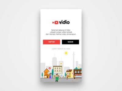 Vidio Landing page
