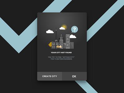 Dark Modal Dialog ux ui pop over modal win mobile interface design interface design application android alert