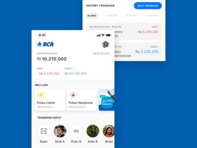 BCA Mobile App Redesign Concept