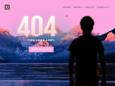 DailyUI #008 - Error Page vibrant color psychedelic design web ui dailyui
