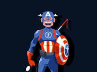 Captain Accessibility hero action comic marvel super hero superhero captain america accessibility