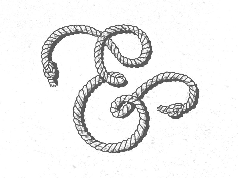 Rope Ampersand illustration ampersand illustrator vector type