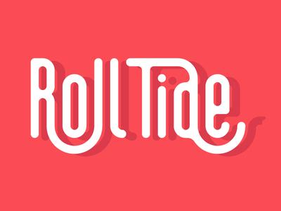 Roll tide shadow elephant type football roll tide alabama typography