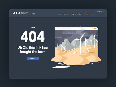 four - oh - four illustration ui web error 404 farm windmill energy