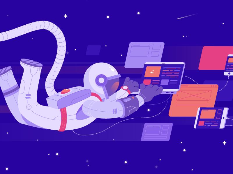 Astronaut dribbble