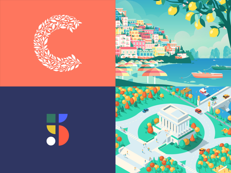 2018 5 branding illustration year trends top shots 2018