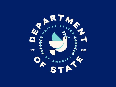 Department of State usa state dove badge government seal