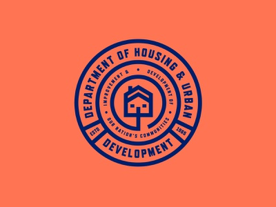 Dep. of Housing & Urban Development united states house design governor government department construction development home house icon seal house badgedesign badge