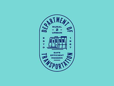 Dept. of Transportation gov us government department travel badge seal train transportation subway metro