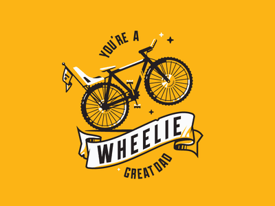 Father's Day Card bicycle dad type banner wheelie bike fathers day father