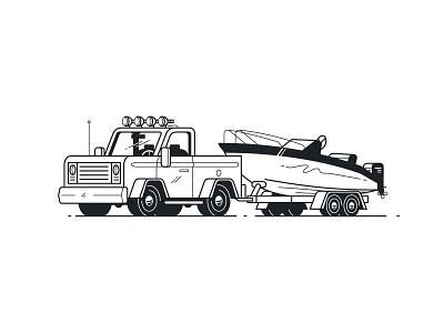 Haulin' white black line 4x4 haul trailer boat truck