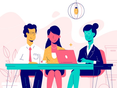 Business Meeting illustration business people vibrant