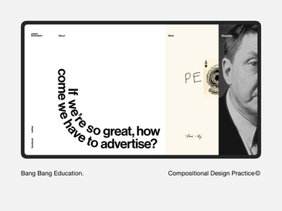 Brownjohn Robert — Compositional Design Practice© biography interface clean design minimal web typography ui