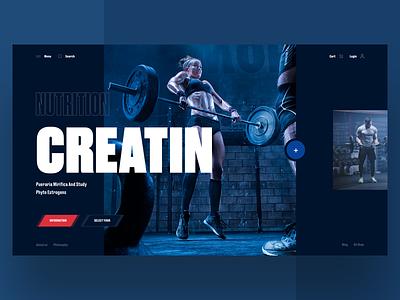 Nutrition Creatin girl fitness interface sport design web ui ux